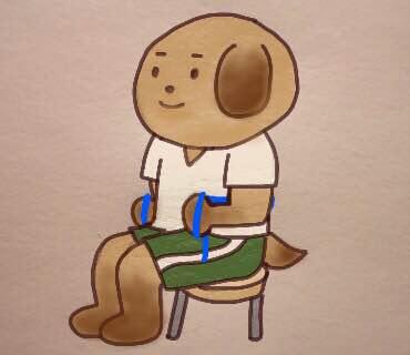 ゴムチューブを使った胸肩腕のトレーニング