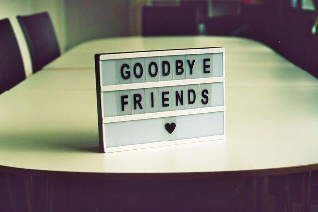 """Good bye friends"" (Photo by Jan Tinneberg on Unsplash)"