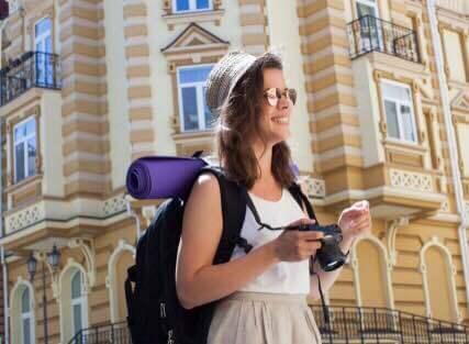 Backpacker-woman