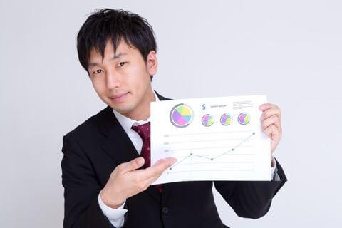 営業報告するセールスマン