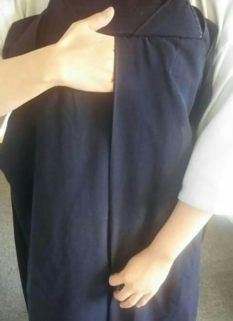 剣道袴のたたみ方2ー1