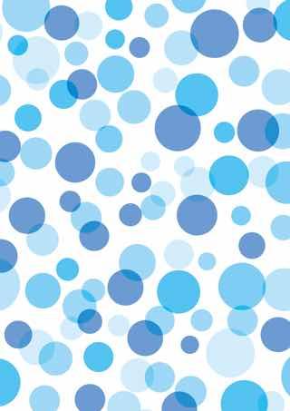 青のバブルドット