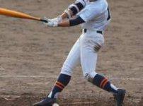 野球の試合でバットを振る選手