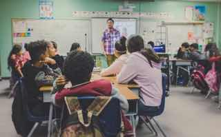 アメリカの学校の授業風景