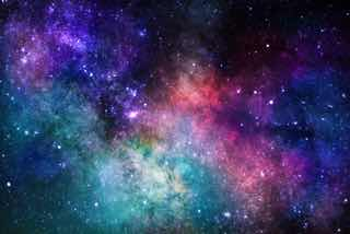 カラフルな星空