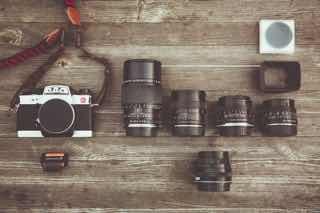カメラと替えのレンズいろいろ