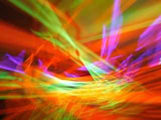 幾重にも折り重なる色々な光