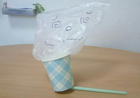 紙コップおばけの作り方⑤