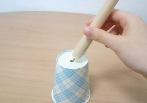 紙コップおばけの作り方③