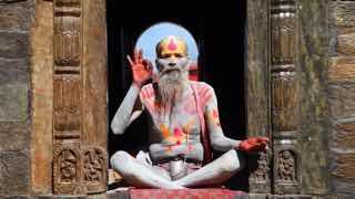 チベットの修行僧