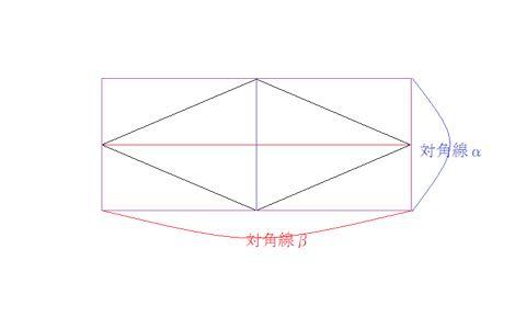 ひし形面積を求める公式の図解③