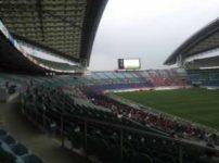 サッカーの競技場