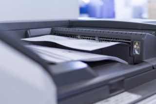 コピー機から出てくる文章