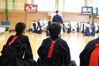 学生剣道の試合の様子