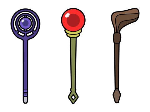 3本のファンタジーな杖