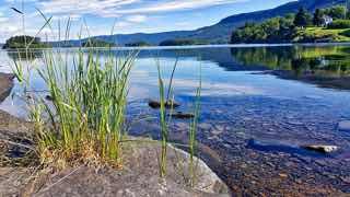 水の綺麗な湖