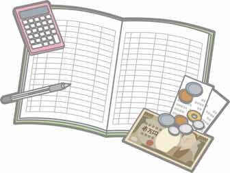 家計簿とお金と文房具