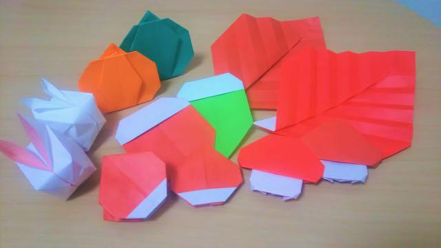 秋祭りの折り紙大集合