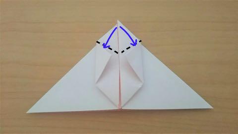 折り紙・うさぎ風船6
