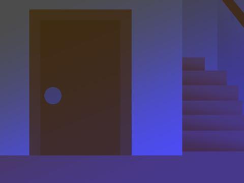 停電時の室内のイラスト