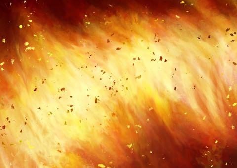 炎のイメージのイラスト