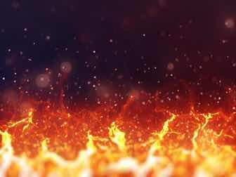 湧き上がる炎のイメージ