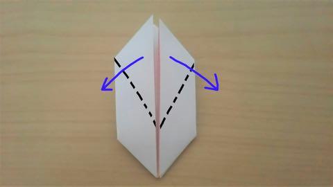 折り紙・うさぎ風船9