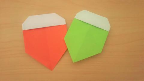 折り紙・どんぐり 完成品