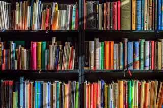 たくさんの本で埋め尽くされた本棚