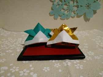 折り紙・兜の折り方ー完成