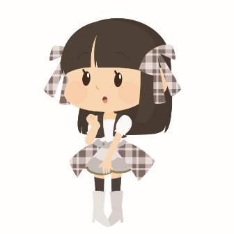 アイドルの女の子のイラスト